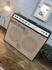 More details for rare 1960's soundcity artiste 30w solid state 2×10 combo guitar amp super clean