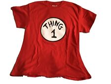 """DR. SEUSS Women's """"Thing 1"""" Cat In The Hat Red T Shirt Adult Size MEDIUM *EUC*"""