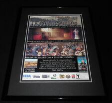 Medieval II Total War 2006 Sega Framed 11x14 ORIGINAL Advertisement