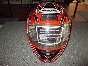 Motorradhelm KBC TK-77, Größe L, Viper Schwarz/Rot