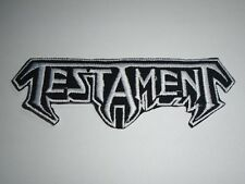 TESTAMENT THRASH METAL IRON ON EMBROIDERED PATCH