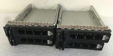 LOT OF 4 DELL POWEREDGE 2900 2950 SAS SATA HARD DRIVE SWAP CADDY TRAY 3.5