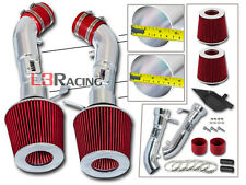 COLD SHIELD DUAL AIR INTAKE KIT + RED FILTER FOR Infiniti 08-13 G37 3.7L V6