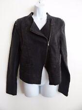 Women's Kardashian Kollection Kourtney Moto Black Long Sleeve Jacket Size L
