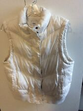 The Gap White Women's Puffer Vest Size L Large Ski Jacket All Categories Zippers