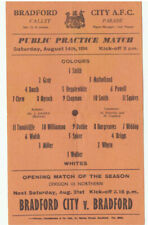 More details for bradford city practise match 14/8/1954