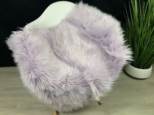 "Gorgeous Baby Purple Faux Sheepskin Rug 2' x 3' - 24"" x 36"""