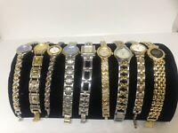 Women Link Chain Watches Lot of 9 Vivani/Anne Klein/Caravelle