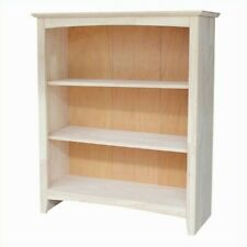 "International Concepts Home Accents Unfinished 36"" Shaker Bookcase"