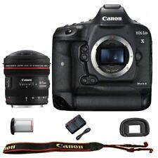 Canon EOS 1DX mark II DSLR Camera Body with EF 8-15mm f/4L Fisheye USM Lens