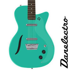 NEW Danelectro 56 Vintage Baritone Semi Hollow Electric Guitar Dark Aqua