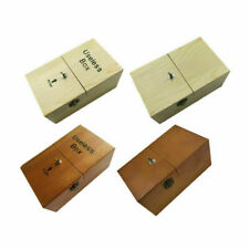 NICE Mini Wooden Useless Box Leave Me Alone Box Sound Don't Touch Tiger Machine