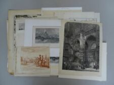 65 Grafiken - Spanien- Stahlstiche Lithographien Kupferstich Holzstiche - 1840