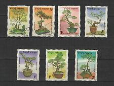 flore décorative 1986 Viêt Nam une série de 7 timbres / T1673