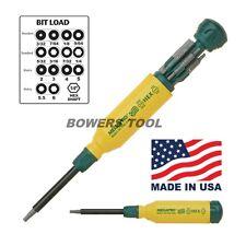 Megapro Hex Multi Bit Screwdriver 15in1 151HX 2-6mm 3/32-1/4 Hex Key Wrench Bit