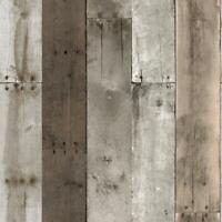 RE504 Repurposed Wood Weathered Self Adhesive Wallpaper Free Shipping