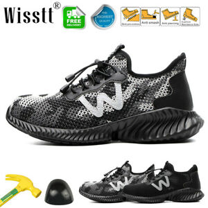 Women's Mesh Safety Sneakers Work Shoes Plastic Toe Composite Hiking Walk Boots