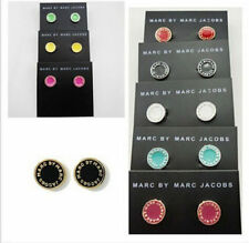 NEW fashion Marc by M Jacobs 13 colors Letters Disc Stud Earrings