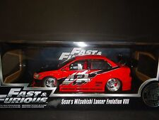 Jada MITSUBISHI LANCER EVOLUTION VII sean's COCHE FAST AND FURIOUS 1/18