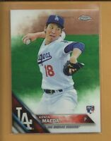 KENTA MAEDA RC 2016 Topps Chrome Rookie Card # 92 Los Angeles DODGERS Baseball