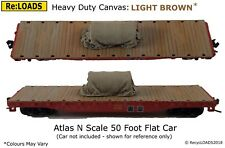 LIGHT BROWN 'Canvas' Tarped Covered Sheeted Model Road & Railway Load, N,Z Scale