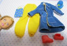 """barbie Modern STACIE 9"""" sister Doll Clothes/Shoe-Rain Coat Jacket Casual Outfit"""