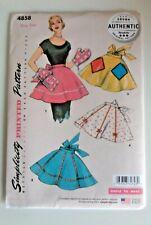 Sewing pattern apron pinny vintage style ladies simplicity 4858