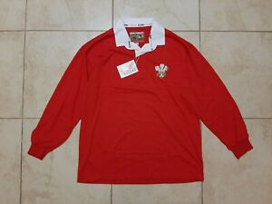 Wales Rugby Union Shirts Cotton Traders Size XL Jersey 1970 Red