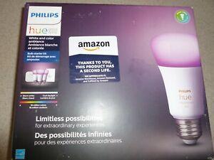 Philips Hue White Color LED Smart Button Starter Kit 3 A19 Smart Bulbs KIT
