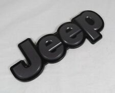 14-18 JEEP CHEROKEE EMBLEM BACK BLACK/GRAY OEM BADGE logo name sign symbol