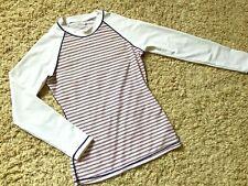New listing GAP Body - Women's Swim Shirt, Long Sleeve, White, Striped, Size: Small