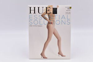 Hue Essential Solutions Clear Control Sheers Pantyhose, Black, Size 3