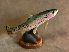 Original RAINBOW TROUT  Wood Carving