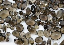 50 Cts Mix Faceted Smoky Topaz Gemstone Lot, Mixed Smoky Topaz All Shapes Lot