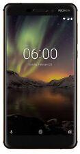 "Nokia 6.1 64GB 4GB Dual Sim 5.5"" Unlocked Android 8 Smartphone -Schwarz / Kupfer"