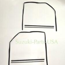 Door Window Channel GLASS RUN SCRAPES - Weatherstrip - Suzuki Samurai 86-95