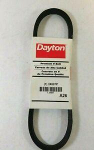 "Dayton 3X697 V-Belt 28"" x 1/2"" x 5/16"" A26"