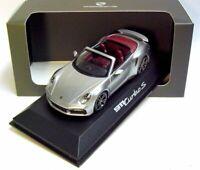 1:43 MINICHAMPS 2020 PORSCHE 911 992 Turbo S Cabriolet GT silver DEALER !!!