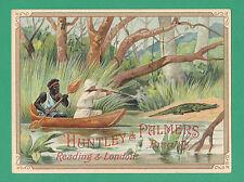 HUNTLEY & PALMERS - RARE ADVERTISING CARD - HUNTING  - REF.  HUT - 9 - 3  - 1900