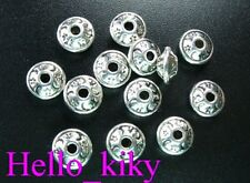 100Pcs Tibetan silver star moon bicone spacer beads A603