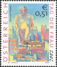 Austria 2002 Women's Day/Modern Art/Contemporary/Paintings/Nude 1v (at1209)
