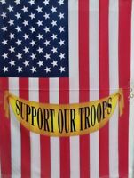 "75% off of 5 Support Our Troops Standard House Flags by Toland 24"" x 36"", New!"