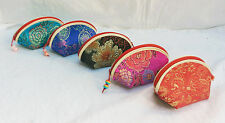 Chinese Silk Coin Purse / Make Up Purse - Assorted Colours - BNIB (A)