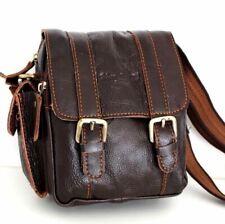 Genuine Soft Leather Shoulder Bag Messenger Vintage Small man woman tote Belt