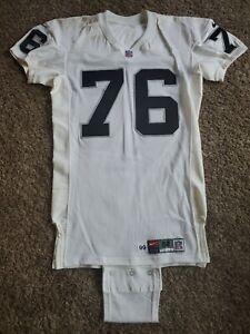 1999 Steve Wisniewski Oakland Raiders NFL Nike Team Issued Game Jersey Sz 52 LV