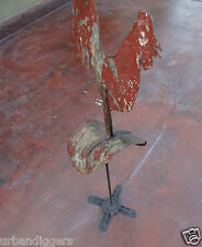 1055/ Awesome Primitive ROOSTER Folk Art ~ 19th Century BARN VENT / Weather Vane