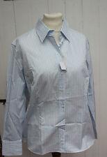 Bluse - van Laack Gr. 46 -weiß - hellblau  - Hemdbluse - Modell Fay - Neuware
