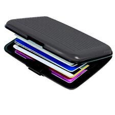 BLACK HARD PLASTIC NAME - CREDIT - ID - BUSINESS CARD HOLDER - CASE - WALLET 174