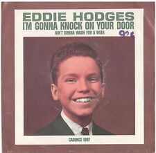 EDDIE HODGES--PICTURE SLEEVE + 45--(GONNA KNOCK ON YOUR DOOR)--PS--PIC--SLV