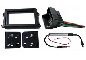 Radio Stereo Double Din Install Mount Dash Kit + Wire Harness & Antenna Adapter